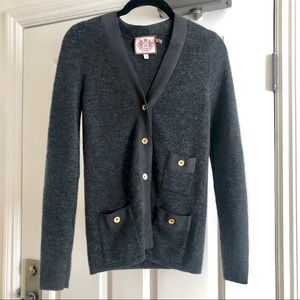 Juicy couture blue grey blazer cardigan